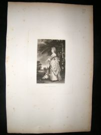 After Joshua Reynolds C1830 Folio Mezzotint. Lady Spilsbury, Pretty Lady
